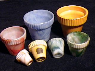Ribbed flower pots